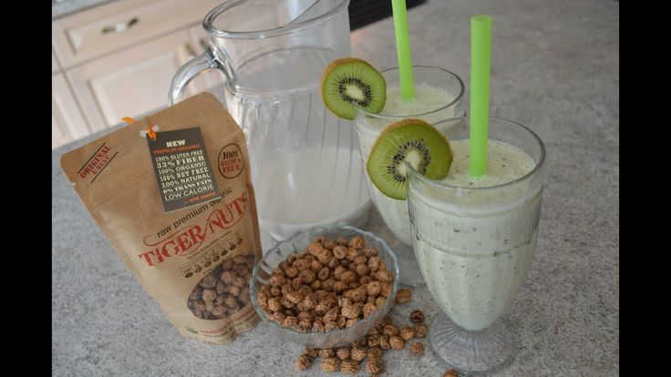 Perfect for #StPatricksDay - #Kiwi & #TigerNuts #Milk #Smoothies ! #nutfree #vegan #dairyfree   Tiger Nuts are available online: http://TigerNutsUSA.com   * Subscribe to Cooking With Kimberly : http://cookingwithkimberly.com #cookingwithkimberly