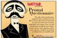 The Interactive Proust Questionnaire- this is just a great exercise; an inventory of the self in a fun way