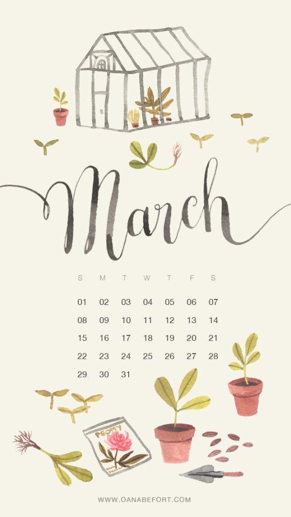 Exellent Desktop Calendar March 2017 In Design