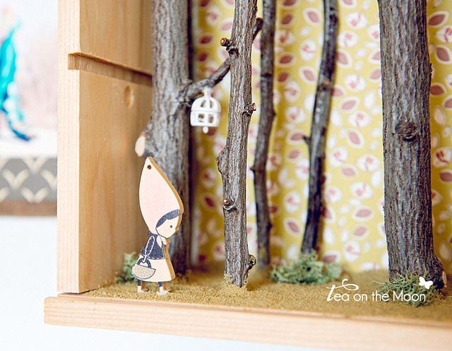 Diorama de un bosque. Tea on the moon para Kireei magazine by Tea on the moon ♥ begoña ♥, via Flickr