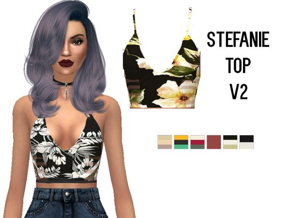 Rebellesims' Stefanie Top V2 - mesh needed