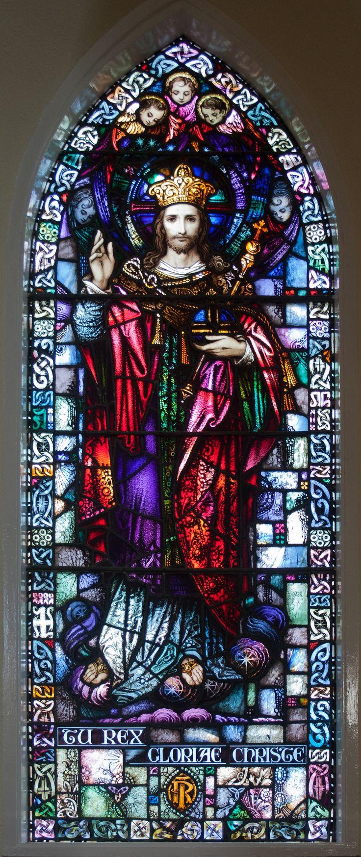 Christ as King and Ruler   File:Toomyvara St. Joseph's Church Window Tu Rex Gloriae Christe by ...