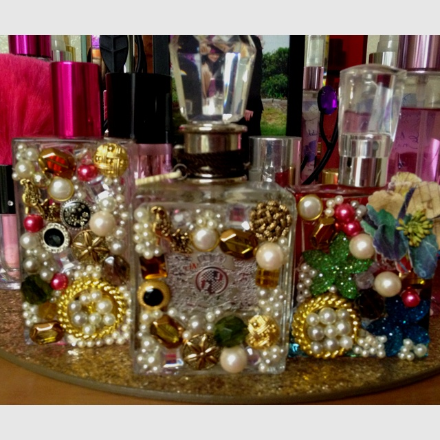 Best 25 empty perfume bottles ideas on pinterest empty for How to decorate empty glass jars