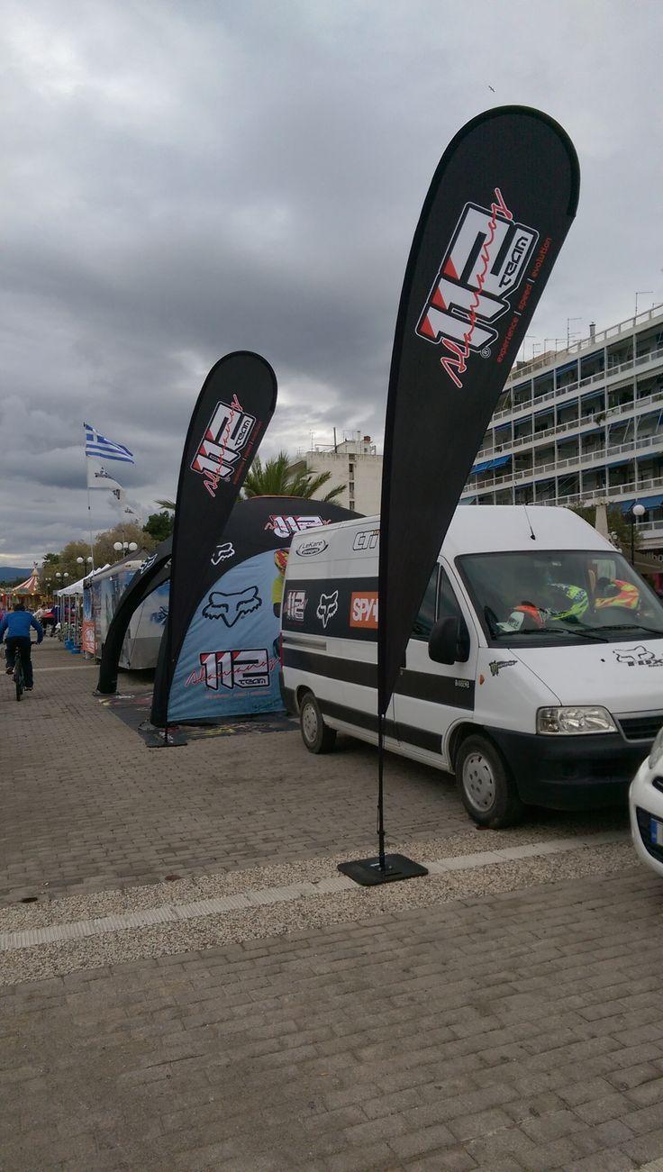 Flexi beachflag 112 Alamanos racing team - Size: Large - Product name: Drop