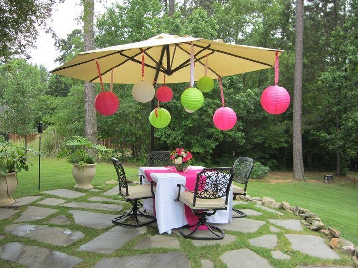 High school graduation party ideas backyard party high for Backyard party decoration