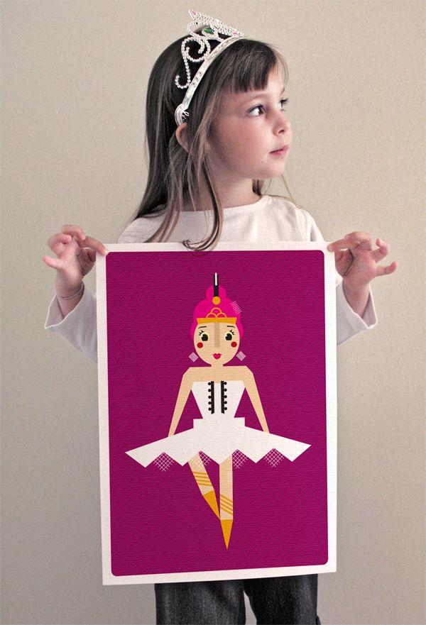 Modern style illustration of a ballerina