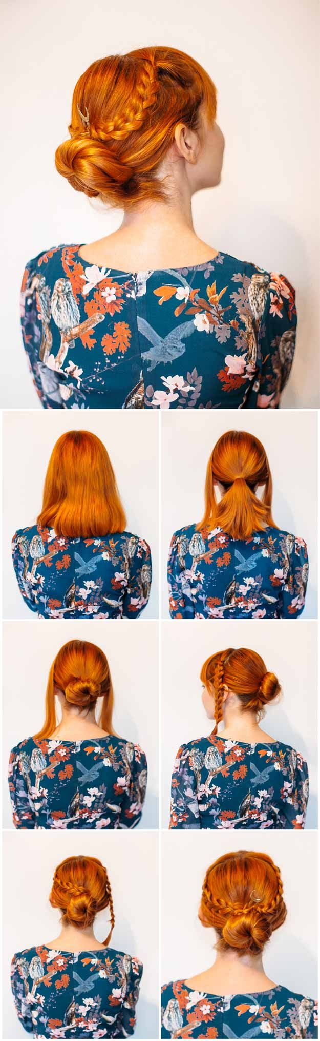 Super Sexy Hairstyles- Easy Criss Cross Braided Bun - Easy Hair Styles For Long Hair, Medium Hair, And For Going Out. If You Have Short Hair, Try These Sexy Hairstyles With Extensions, Or Try A Hair style With Bangs. Try A Sexy Updo Or A Curly Look That Is Shoulder Length. These Tutorials For Sexy Hairstyles And Hairdo's Are Super Simple And Step By Step. Super-Sexy Hairstyles That Are Actually Easy To Do And Will Make You Look Hot. https://thegoddess.com/super-sexy-hairstyles