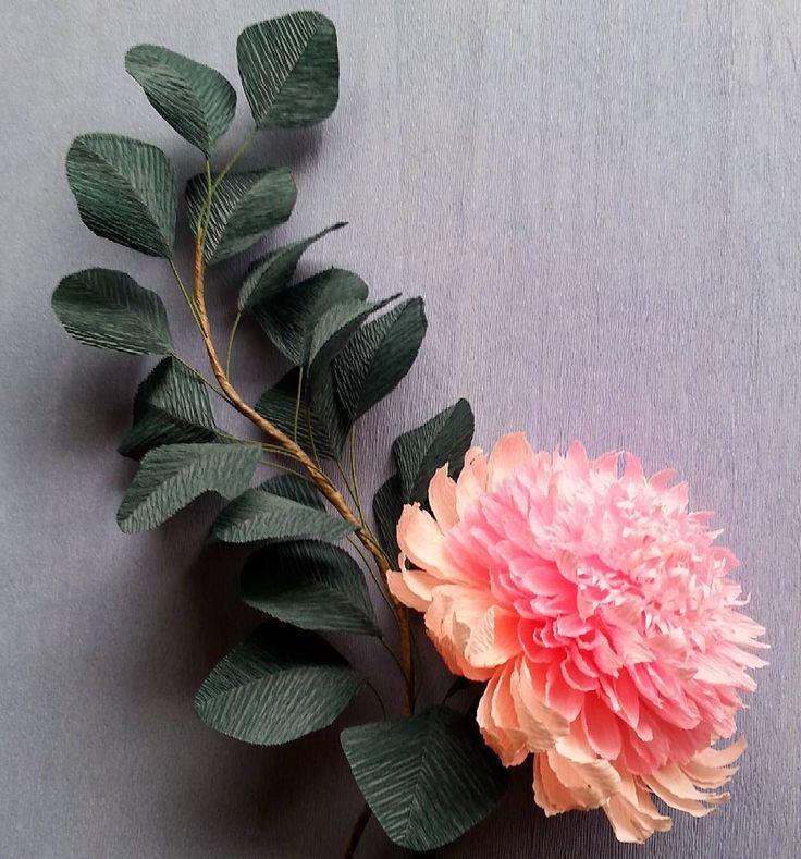 "498 Likes, 15 Comments - Valentina Moraliyska (@valentinasflowers) on Instagram: ""#paper #decoration #crepepaper"""