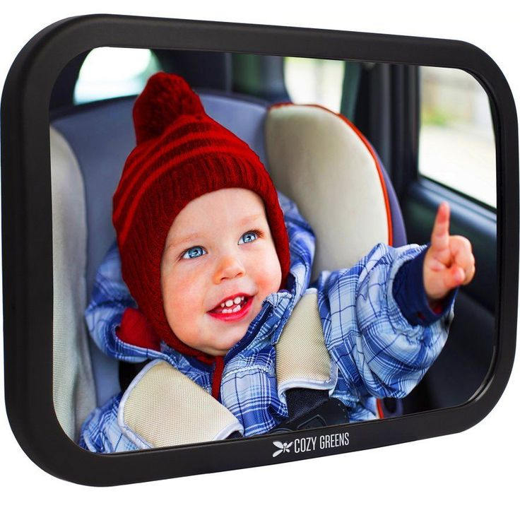 Baby Car Mirror Back Seat Rear-facing Infant In Sight Safety and Cleaning Cloth  #CozyGreens