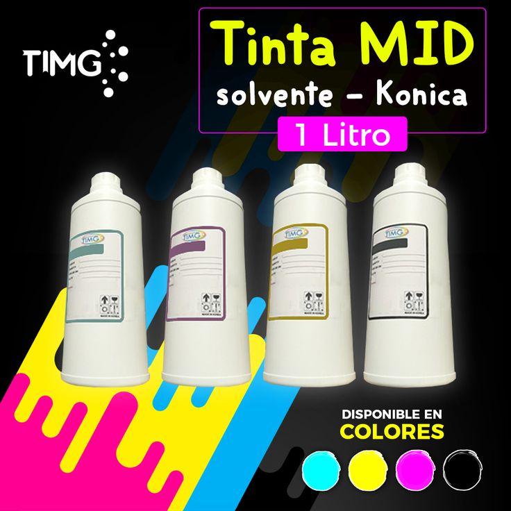 Disponible en stock #TIMG Tintas MID Solvente Konica 14/30 presentación de 1 litro. ¡Aprovecha su existencia! E imprime con los mejores, #ImprimeconTIMG. Ingresa al link directo #TIMG para saber más sobre este producto http://www.suministro.cl/SearchResults.asp?Search=tinta+solvente+konica&Search.x=26&Search.y=13