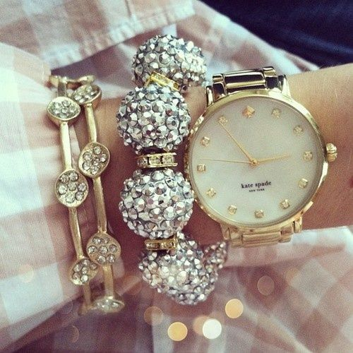 Gold, diamonds, and Kate Spade.