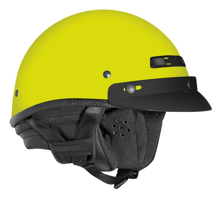 Helmet by Vega - Scooter Motorcycle Moped Helmets - Half XTA Touring Hi-Vis Yellow > Part #V7600YELL511