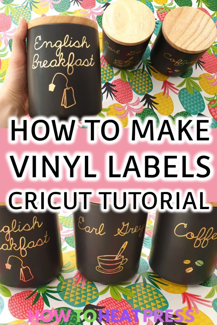 How to make apply cricut vinyl labels kitchen storage