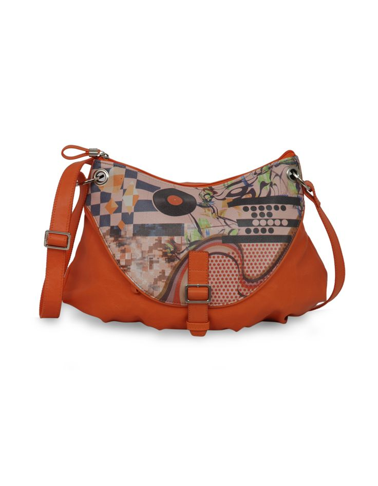 Frequency Mac Orange - A funky tangerine sling by Baggit