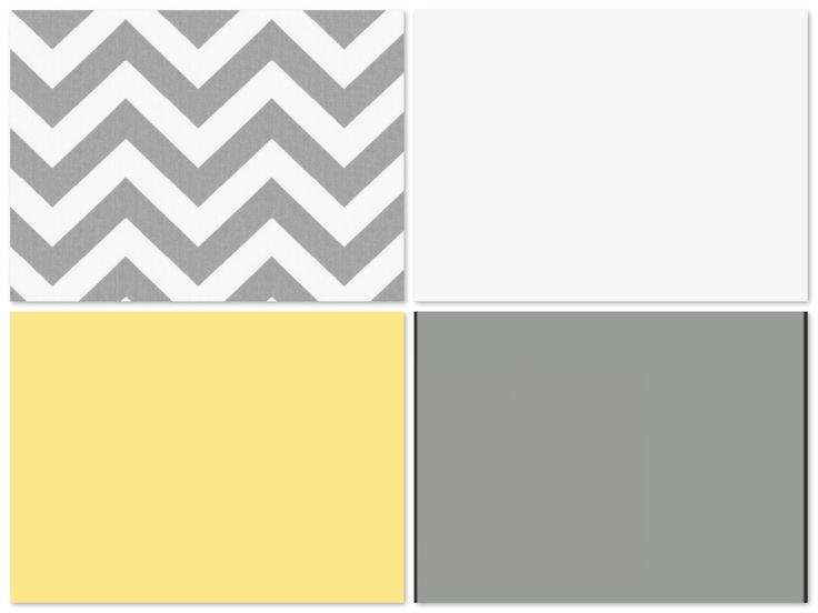 Yellow and Grey living room colors