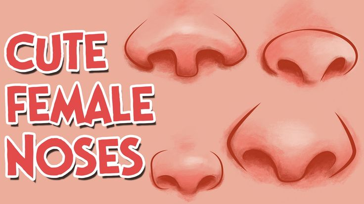 How to Draw Cute Girl Cartoon Noses