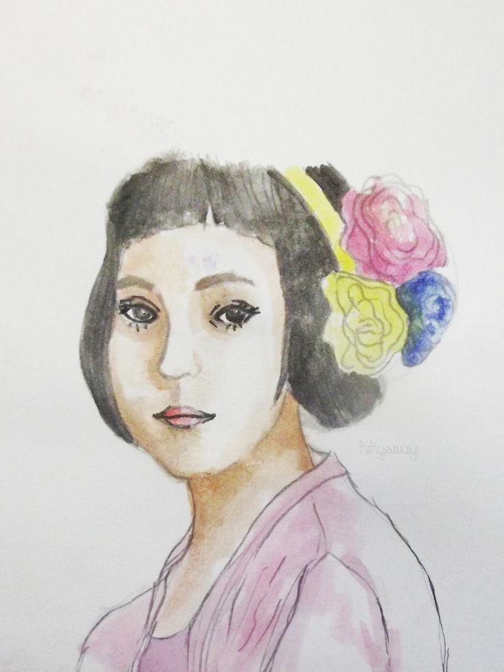 trying to draw realistic girl, it's evitanuh btw :)