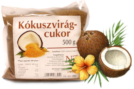 Indonéz Kókuszvirágcukor -100%-ban növényi édesítőszer   Napideal
