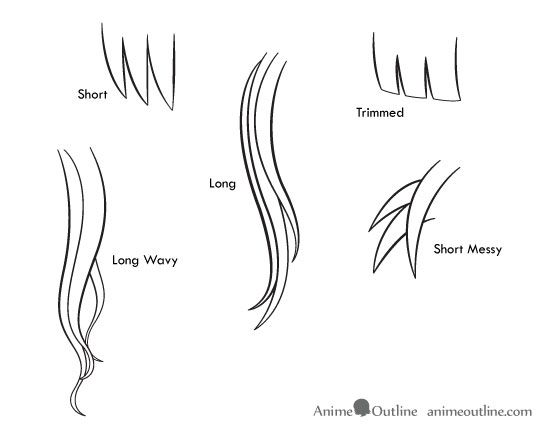 how to draw anime   How to Draw Anime and Manga Hair ...