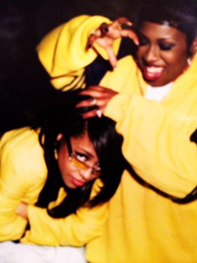 Rare Aaliyah picture shared on Missy Elliot's twitter page.