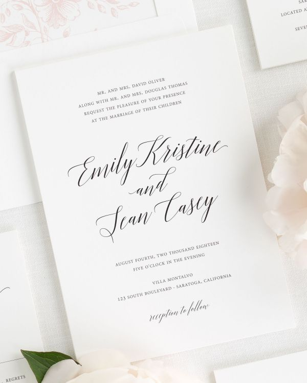 Free Wedding Invitation Samples Wedding Invitations Romantic Fun Wedding Invitations Pretty Wedding Invitations