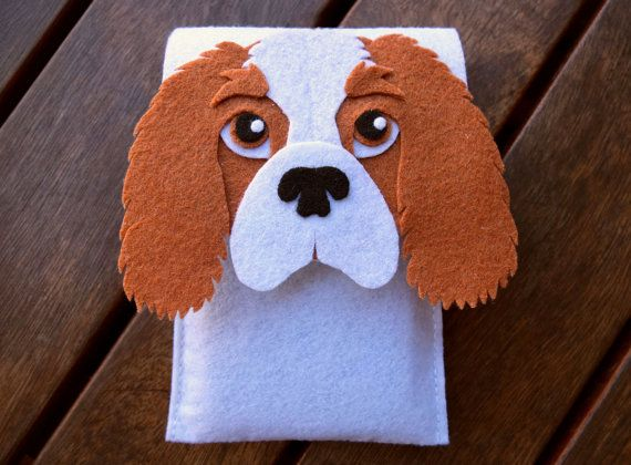 Cavalier king iPhone Case Dog Felt Phone Cover by LayonStore