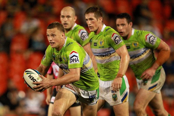 2014 NRL Round 5 Canberra Raiders V Penrith Panthers: Jack Wighton of the Raiders runs the ball during the round five NRL match between the Penrith Panthers and Canberra Raiders at Sportingbet S...
