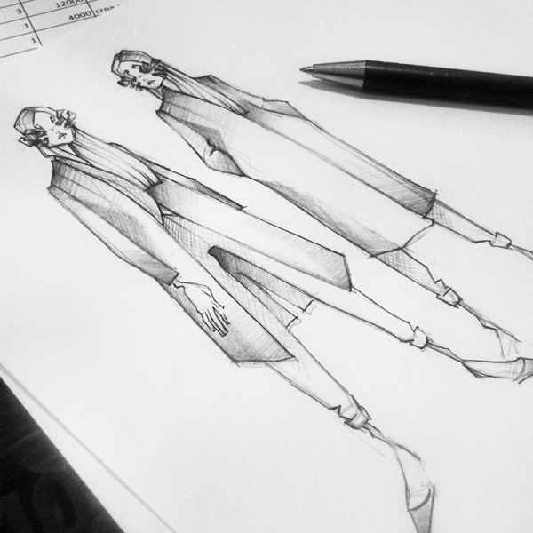 #Feud4 Fashion Sketches // Milan Zejak at Fashion Feud