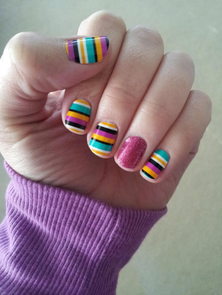 Jamberry nails on acrylic nails ~ Beautify themselves with sweet nails