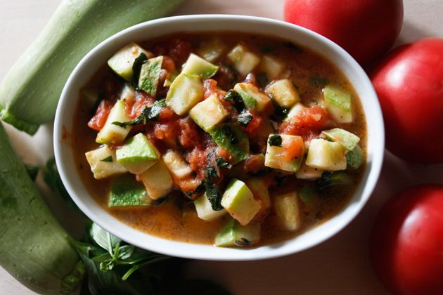 Zucchini with basil and tomatoes - Chef Wolfgang Puck's Office Bag Lunch