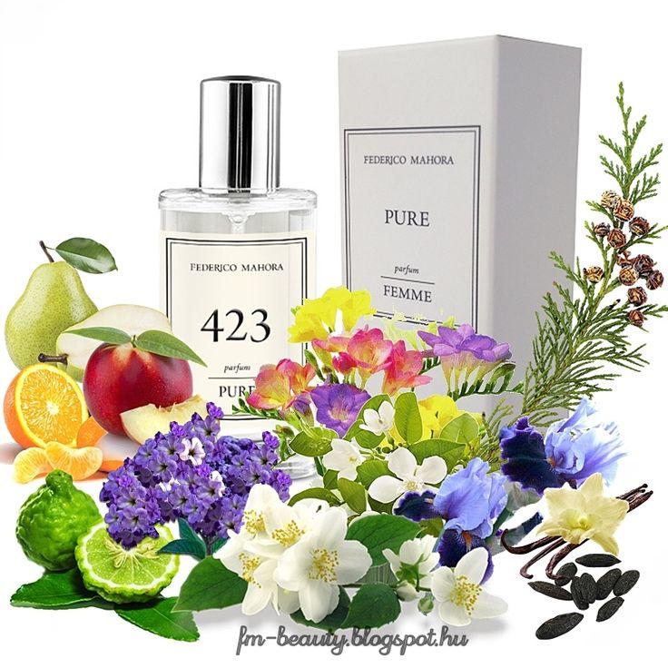 FM423 PURE női parfüm-Sean John - Unforgivable Women-szerű illat.  Érzéki, nőies, hangulatos illat virágos jegyekkel.  Illatcsalád: keleties- virágos. Fejjegyek: körte, nektarin, mandarin, bergamott. Szívjegyek: írisz, frézia, jázmin, afrikai narancsvirág. Alapjegyek: vanília, tonkabab, kunkor, cédrusfa.