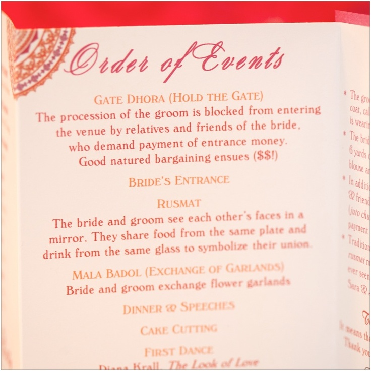 Wedding Reception Program: Wedding Reception Program For Muslim Ceremony