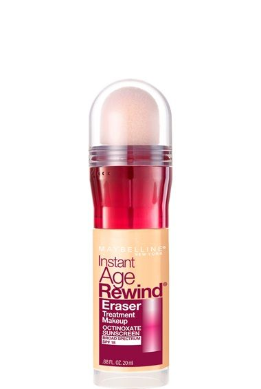 Instant Age Rewind Eraser Treatment Makeup by Maybelline. Foundation with SPF, protects and tightens skin's elasticity while erasing fine lines and wrinkles.