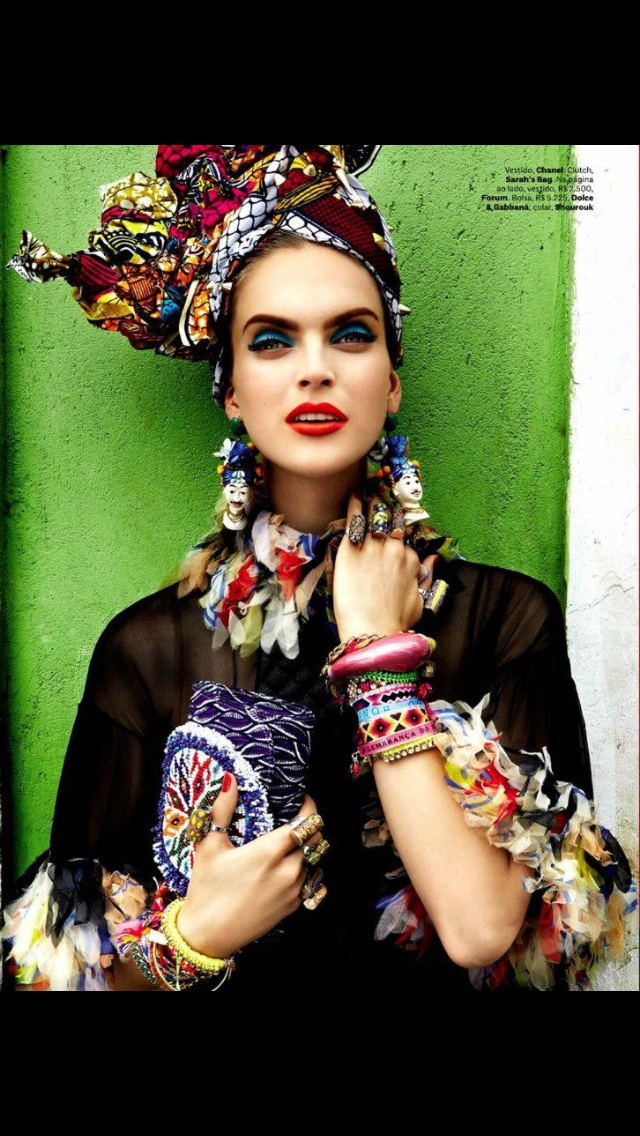 Mexican inspired tribal look.