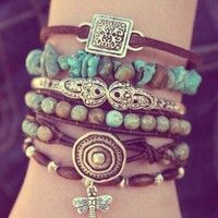 Ever Designs' best-selling Turquoise Bracelet Stack is trending on Wanelo today and has been shared by over 19,000 people and counting! This bracelet stack was also recently featured in the April 2013 issue of Vogue Magazine. #bohemian #bracelets #jewelry www.ever-designs.com