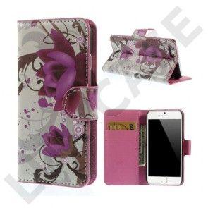 Moberg (Lotus Blomst) iPhone 6 Læder Flip Etui