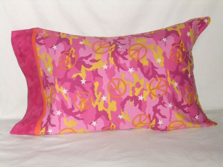 """PEACE #3 PILLOWCASE - 20"""" x 34"""" by KatiesCOVERS on Etsy"""
