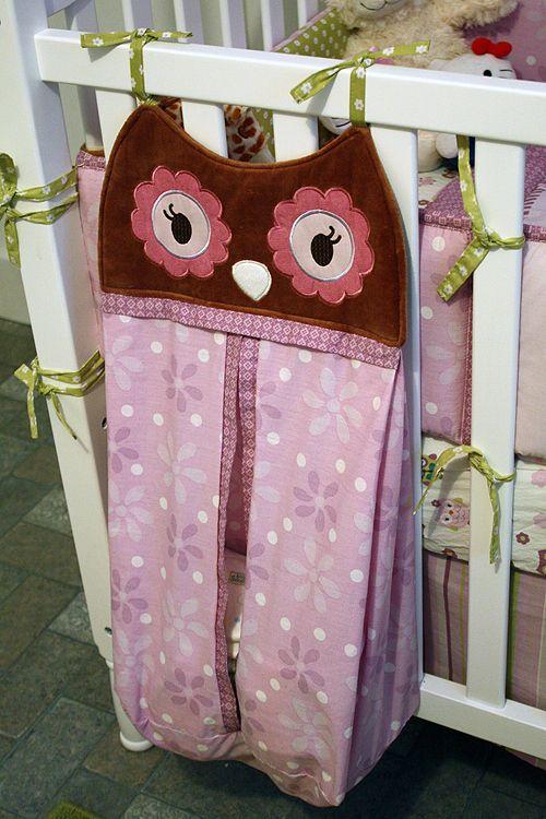 Owl diaper Stacker