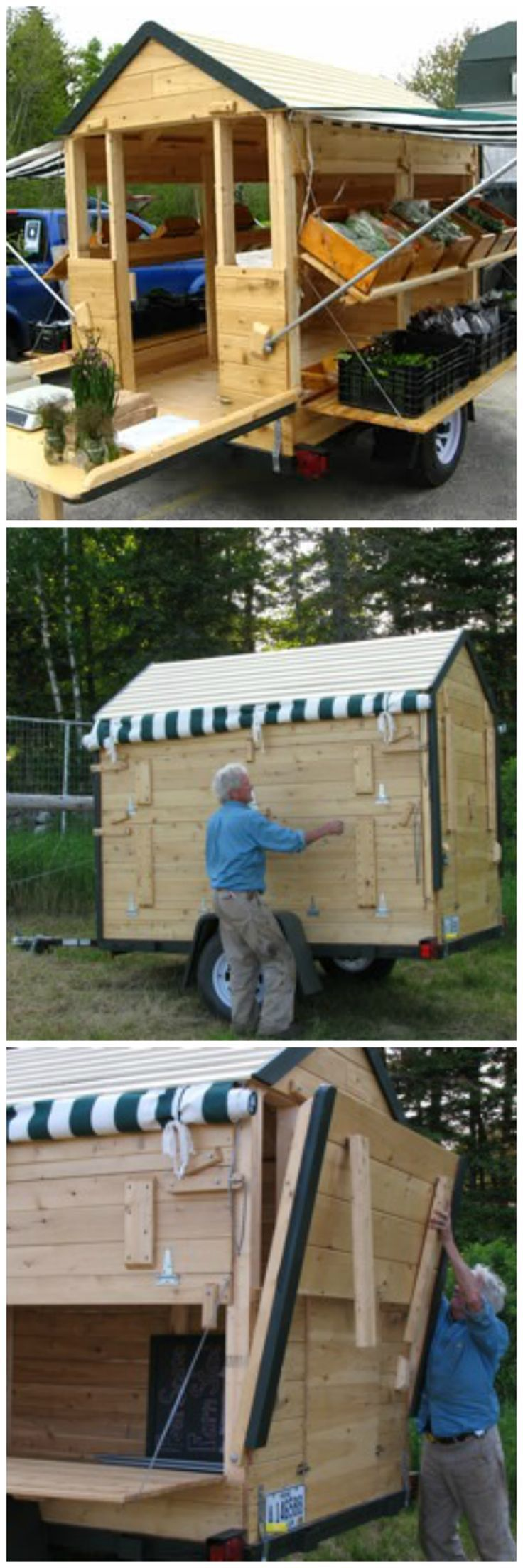 Portable Farm Stand, great for traveling farmer's market