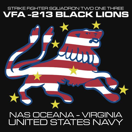 VFA-213 BLACK LIONS UNITED STATES NAVY STRIKE FIGHTER SQUADRON T-SHIRTS