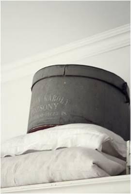 Antique hat boxes. Room Seventeen: Belle Blanc