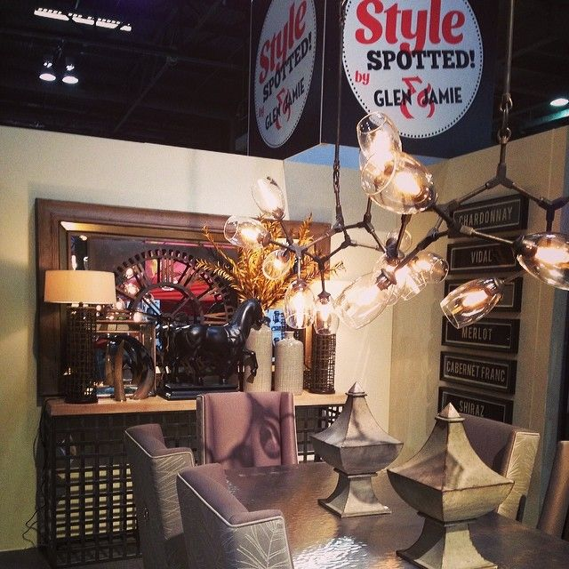 Design space #stylespotted by Glen and Jamie at the 2014 National Home Show. #design #glenandjamie #dining #art #homeshow