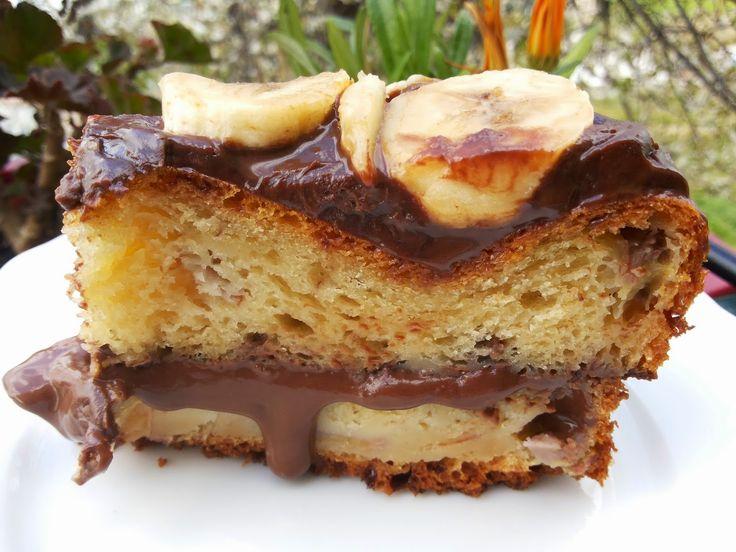 MARI PLATEAU: Κέικ γεμιστό ή muffins με μπανάνα και άλειμα σοκολ...