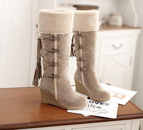 Damen warme neue Winterstiefel Ritter Stiefel Hang mit hohen Stiefeln Runde Schneeschuhe Schneestiefel boots In-Rohr-Schneeschuhe - http://on-line-kaufen.de/long-dream/39-eu-damen-warme-neue-winterstiefel-ritter-hang