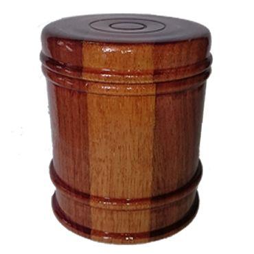 toczenie w drewnie  Pudełko wykonane z mahoniu
