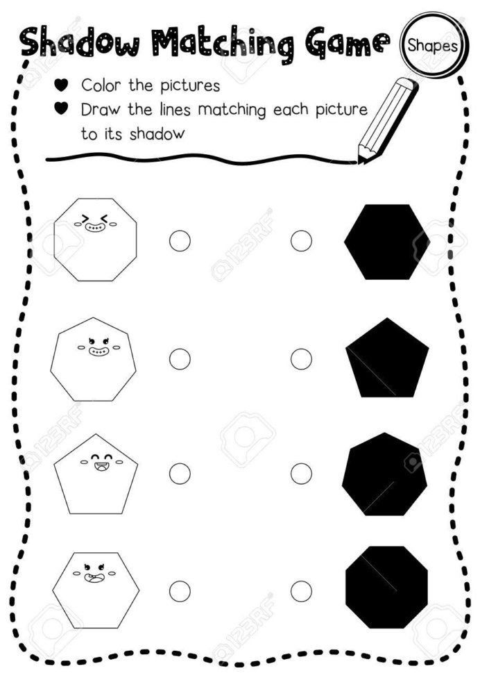 Shape Tracing Worksheets Printable Shadow Matching Game Shapes For Preschool K In 2021 Shapes Worksheet Kindergarten Kindergarten Worksheets Worksheet For Kindergarten Preschool shape tracing worksheets