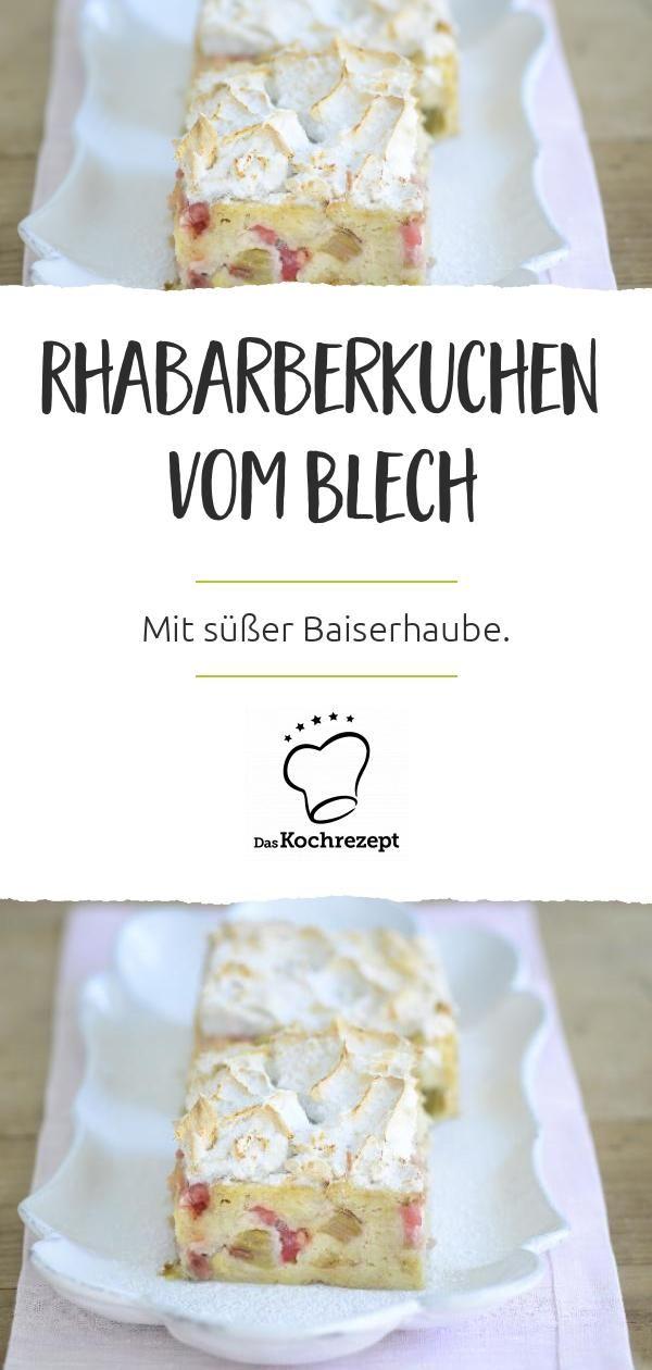 Sie werden von dieser Rhabarberpastete mit Baiser auf dem Blech umgehauen. …   – Kuchen und Torten zu Ostern