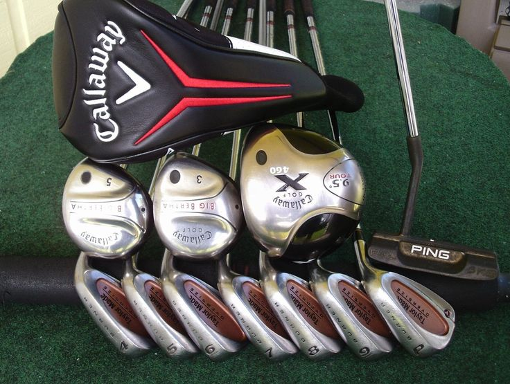 awesome Callaway Taylormade Irons Driver Woods Ping Putter Complete Golf Club Set R.H.**   Check more at http://harmonisproduction.com/callaway-taylormade-irons-driver-woods-ping-putter-complete-golf-club-set-r-h/
