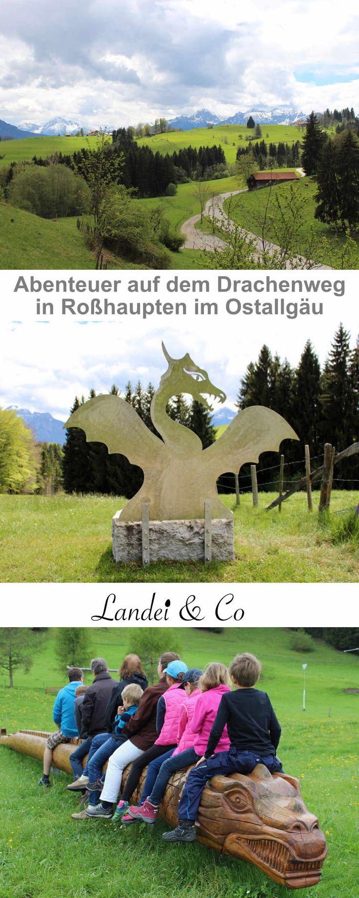 Tolle Wanderung mit Kindern im Ostallgäu, Drachenweg, Abenteuerspielplatz, traumhaftes Alpenpanorma und planschen im Teich inklusive