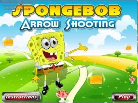 Губка Боб стреляет из лука Spongebob Arrow Shooting  помните что стрелы ограничены - YouTube